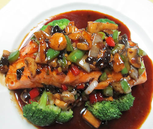 Grilled Salmon Black BeanSauce
